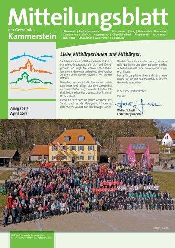 Mitteilungsblatt April 2013 (PDF) - Gemeinde Kammerstein