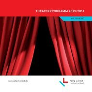 Theaterprogramm 2013/2014 - Kamp-Lintfort