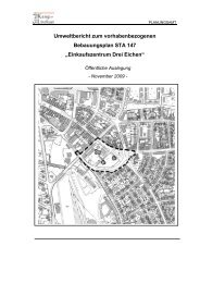 Umweltbericht zum vorhabenbezogenen ... - Kamp-Lintfort