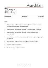 Amtsblatt 06-2008 - 12. Juni 2008 - Kamp-Lintfort
