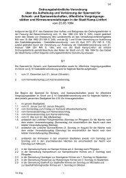 Ordnungsbehördliche Verordnung über die ... - Kamp-Lintfort