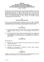 Verwaltungsgebührenordnung - Kamp-Lintfort