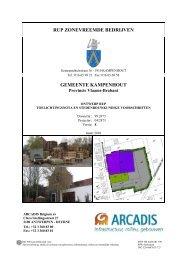 Ontwerp RUP - toelichtingsnota en stedenbouwkundige voorschriften