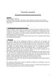 verslag vergadering 2 maart 2013 - Gemeente Kampenhout
