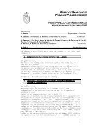 GEMEENTE KAMPENHOUT PROVINCIE VLAAMS-BRABANT