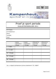 Proef je sport periode
