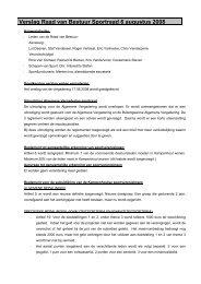 Verslag Raad van Bestuur Sportraad 6 augustus 2008 - Gemeente ...