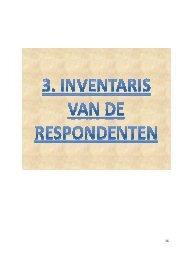 Inventaris van de respondenten - Gemeente Kampenhout