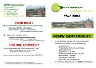 vacatures OCMW Kampenhout.pub - Gemeente Kampenhout