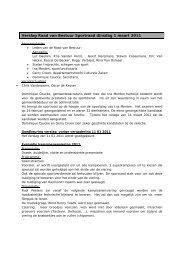 Verslag Raad van Bestuur Sportraad dinsdag 1 maart 2011