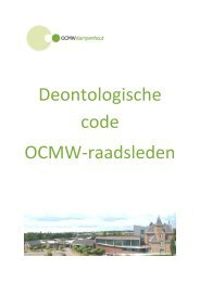 Deontologische code OCMW-raadsleden - Gemeente Kampenhout