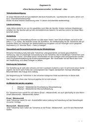 Regelwerk für Allkampf - Meisterschaft 2000