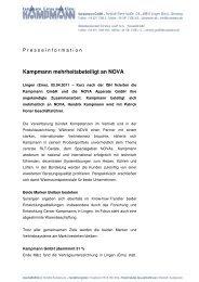 Pressemeldung als PDF-Datei herunterladen - Kampmann GmbH