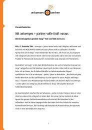 Mit antwerpes + partner volle Kraft voraus - DocCheck AG