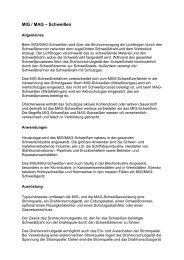 MIG / MAG – Schweißen - Kewell Schweißtechnik GmbH
