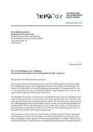 www.epa2007.org Frau Bundesministerin Heidemarie Wieczorek ...