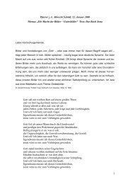 """""""Die Macht der Bilder – Gottesbilder"""" Text: Das Buch Jona Gott sa"""