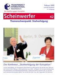 scheinwerfer 42. - Transparency International