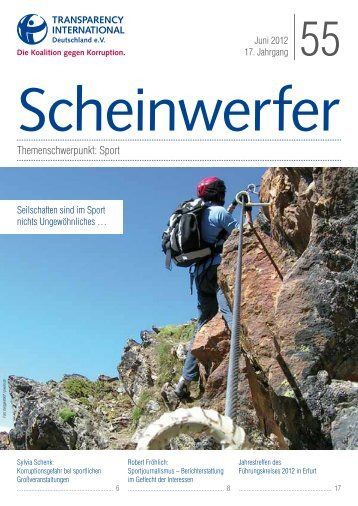 Scheinwerfer 55: Sport und Korruption - Transparency International
