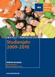 Programmheft - VHS BMO: Programm
