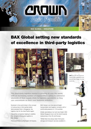 BAX Global setting new standards of excellence in third-party logistics