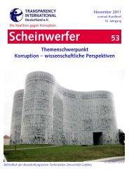 Scheinwerfer 53 neu - Transparency International