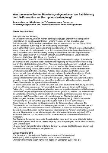 Volker Kroening - Transparency International