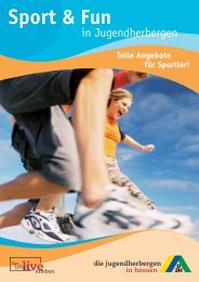 Sport & Fun - Die Jugendherbergen in Hessen