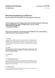 Beschlussempfehlung und Bericht des Ausschusses für Wirtschaft ...