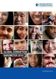 global corruption barometer 2010 - Transparency International