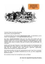 Verehrte Gäste der Burg Breuberg, liebe Lehrer und Gruppenleiter,