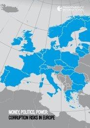 money, politics, power: corruption risks in europe - Transparency ...