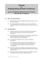 Satzung Kolpingstiftung-Rudolf-Geiselberger