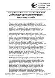 Stellungnahme zum Vorschlag einer Richtlinie des Europäischen ...