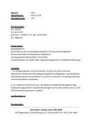 Transparenzurteil des VGH Regensburg vom 02.02.2005