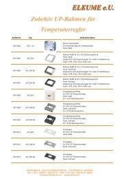 Zubehör UP-Rahmen für Temperaturregler - ELKUME eU