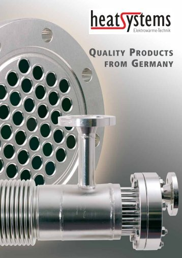 QUALITY PRODUCTS FROM GERMANY - heatsystems