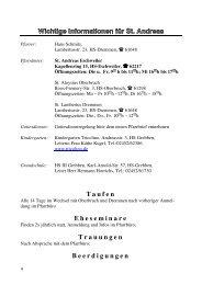 Wichtige Informationen für St. Andreas - kampstrassemitte.de