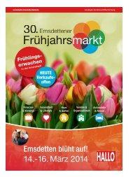 Emsdettener Frühlingsmarkt 14.-16.März 2014
