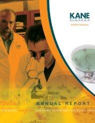2004 Annual Report - Kane Biotech