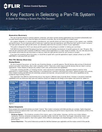 6 Key Factors in Selecting a Pan-Tilt System - Kane Computing Ltd