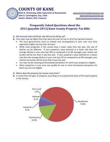 Kane County Property Tax Bills - Blackberry Township