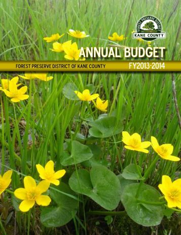 Annual Budget - Forest Preserve District of Kane County