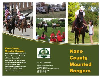 Kane County Mounted Rangers - Forest Preserve District of Kane ...