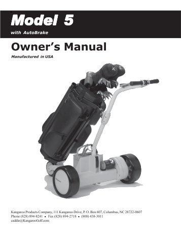 Kangaroo Golf cart owners manual