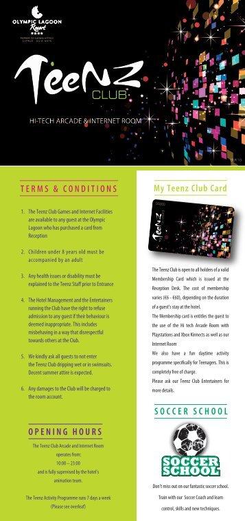 Teenz Club Flyer