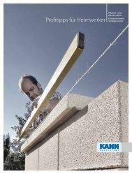 Profitipps für Heimwerker 2013 - KANN Bausysteme