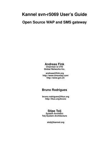 kannel 1 4 2 user s guide open source wap and sms gateway rh yumpu com