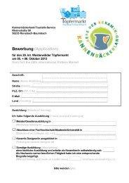 Bewerbung (Application) - Kannenbäckerland