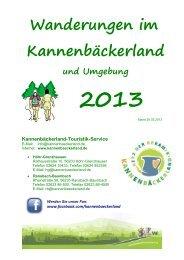 Wanderprospekt Download - Kannenbäckerland